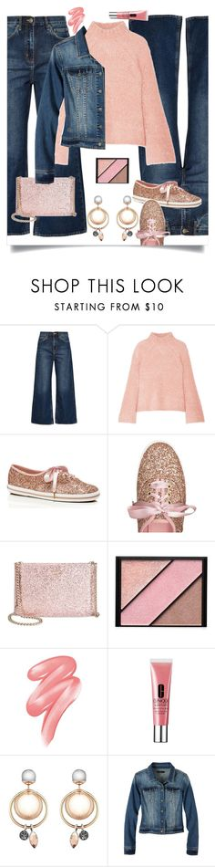"""""""Wide-Leg Jeans"""" by beleev ❤ liked on Polyvore featuring M.i.h Jeans, Ulla Johnson, Kate Spade, Elizabeth Arden, Clinique, prAna and polyvorecontest"""