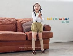 baby sewing pattern pdf/ kids suspender pants / by hellodearkids
