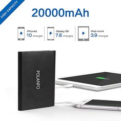 Polanfo 20000mah Power Bank, Portable Charger Ultra Slim Fast Charging External Battery Pack (Black)   Polanfo 20000mah Power Bank, Portable Charger Ultra Slim Fast Charging External Battery Pack (Black)  High Capacity 20000mAh    With the POLANFO,hold enough power to charge 99% of all digital devices,keep your gadgets going for days and still have juice left to share.It's perfect for many activities :flights ,traveling, business trips, or any time you're away from an outlet.        ..