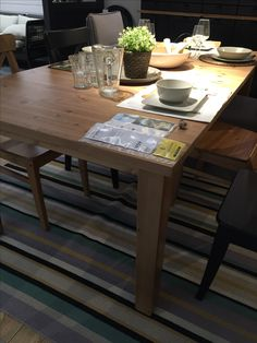 Ikea Stornas Table And Ingolf Chairs Dining