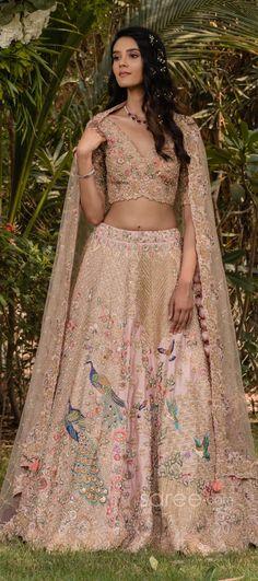 Lehenga Choli Online, Bridal Lehenga Choli, Bridal Dresses, Girls Dresses, Indian Embroidery, Indian Bridal, Two Piece Skirt Set, Sari, Weddings