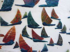 Fused Glass Sailing Boat wall Art by CamdalGlassArt on Etsy