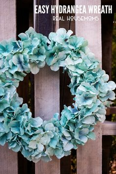 Easy Hydrangea Wreath | Real Housemoms