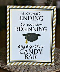 Graduation Food, Graduation Party Planning, Graduation Party Favors, College Graduation Parties, Graduation Decorations, Grad Parties, Graduation Centerpiece, Graduation Celebration, Graduation Cards