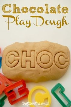 This chocolate playdough is a fun sensory activity for kids who will love the gorgeous scent! Check out the simple recipe, ideas for playing and learning.