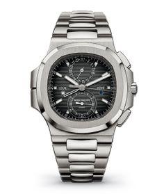 La montre Nautilus Travel Time Chronograph de Patek Philippe http://www.vogue.fr/vogue-hommes/montres/diaporama/horlogerie-montres-homme-bale-baselworld-2014/18294/image/992929#!montre-patek-philippe-nautilus-travel-time-chronograph-bale-2014