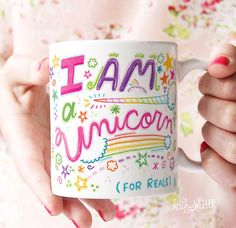 I Am A Unicorn Mug Motivational Mug by kathywellerart on Etsy