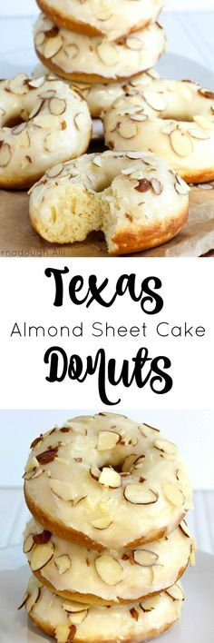 Love Texas Sheet Cake? Then you'll love the almond version in these scrumptious Texas Almond Sheet Cake Donuts!