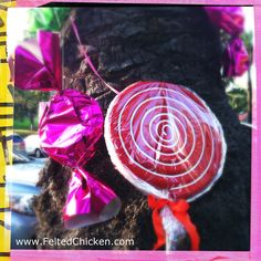 "DIY Tips & Tricks - ""Candyland"" Themed Party Props - via www.FeltedChicken.com"