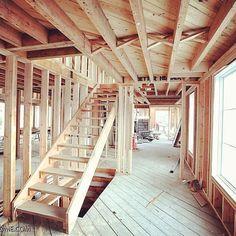 Wood. #amagansett #hamptons build in progress.