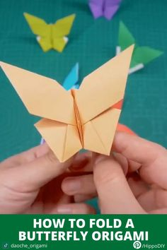 A place where you can find useful videos about Origami tutorial, DIY and Craft ideas, Life hacks and many other things Instruções Origami, Fabric Origami, Origami Butterfly, Paper Crafts Origami, Whale Origami, Easy Origami Star, Butterfly Video, Origami And Kirigami, Butterfly Mobile