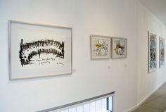 "Left: ""Almas Transparentes"" by Iliana Emilia García.   Right: ""Free I y II"" by Ginny Taulé."