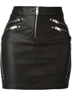Diesel Yusra Leather Zips Mini Skirt and other apparel, accessories and trends. Browse and shop 8 related looks. Real Leather Skirt, Black Leather Mini Skirt, Short Skirts, Cool Outfits, Clothes, Petite Fashion, Curvy Fashion, Fall Fashion, Fashionable Outfits