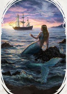 Lil mermaid - 30 Mind Blowing Examples of Mermaid Art  <3 <3