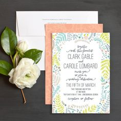 Customizable wedding invitations by Sarah Watson for Elli