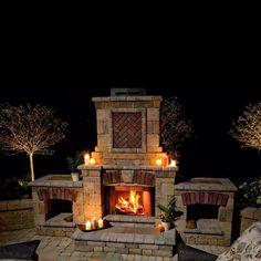 Outdoor Fire place idea
