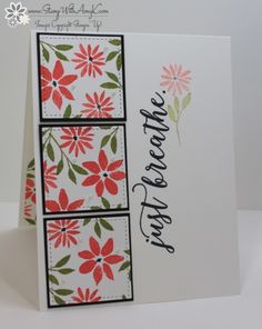 Stampin' Up! Blooms & Wishes CAS Just Breathe Card – Stamp With Amy K