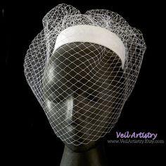 Bridal Hat Birdcage Bridal Hat Birdcage Veil Hat by VeilArtistry, $250.00