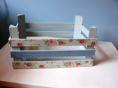 £4.99 Cath Kidston decoration on a simple, mini wooden storage crate.