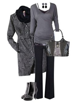 """""""Inexpensive Navy and Gray"""" by chrissykp ❤ liked on Polyvore featuring Kirna Zabête, Oasis, Hollister Co., Alloy Apparel, H&M, LeopardPrint, animalprint, Monochromatic, frugalfashionista and navyandgray"""