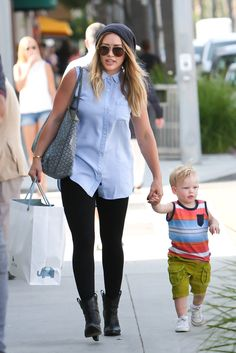 A little edgy tomboy, Hilary Duff is one stylish mom! | See 200+ more of her best looks