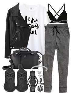 """""""Untitled #19160"""" by florencia95 ❤ liked on Polyvore featuring mode, T By Alexander Wang, H&M, Acne Studios, Fendi, Monica Vinader, Marc by Marc Jacobs et Simply Vera"""
