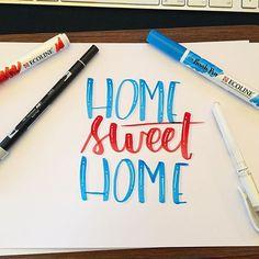 #homesweethome #brushlettering #brushpen #handlettering #practice #handmade #moderncalligraphy #calligraphy
