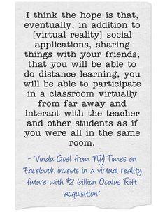 Virtual Reality & Education