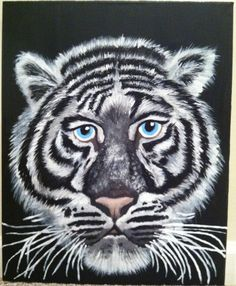 Title: TobiasTiger Artist: Dani LeRose of Black Rose Paintings Please make inquiries on my Official Website: www.blackrosepaintings.squarespace.com Facebook: www.facebook.com/blackrosepaintings Instagram: @danilerose or #blackrosepaintings Product: Available for Sale