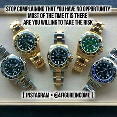 STOP COMPLAINING THAT YOU HAVE NO OPPORTUNITY . www.4figureincome.com .  . Hurry up & check them out @iseeitall @nordlund_inspires @jaysampath @jakecigelnik @thinkboxmakes @thelavishlines @sofiaparedesjurado @officialebiboh .  . #4figureincome #hardworking #quoteoftheday #successquote #motivation #millionaire #business #businessman #successful #love #instagood #me #tbt #cute #follow #followme #photooftheday #h... Luxury Watches, Rolex Watches, Stop Complaining, Rolex Gmt Master, Watch Companies, Mens Fashion, Accessories, Jewerly, Opportunity