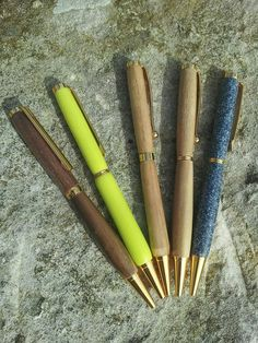 Handmade twist pens made by my daughter.