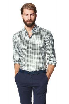 Lobby Oxford Gingham Button Down Shirt