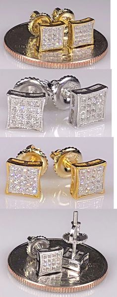 Earrings Studs 14085: Men S 0.5Ct Aaa Lab Diamond Iced Out Square Screw Back Stud Earring 5Mm -> BUY IT NOW ONLY: $14.99 on eBay!