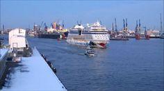 AIDAstella: Erstes Auslaufen aus dem Hamburger Hafen