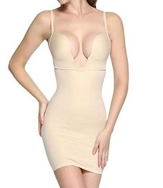 LANFEI Women's Sexy Shapewear Firm Control Full Shaping Camis Slip Dress