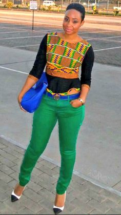 african print meets casual. #Africanfashion #AfricanWeddings #Africanprints…