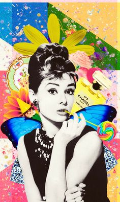 Audrey Hepburn collage ~ by: her-grace-and-elegance.tumblr.com