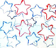 Cookie Cutter craft for Kids*: 4th of July Star Prints Craft