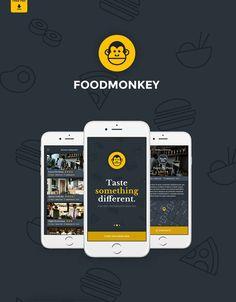 Foodmonkey Mobile App UI PSD