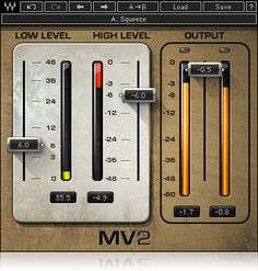 With high and low level compression controlled by a streamlined interface and intuitive dual faders, the MV2 compressor plugin keeps your dynamics in check and maximizes your volume instantly.