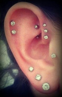 Want the triple helix and the tragus piercings