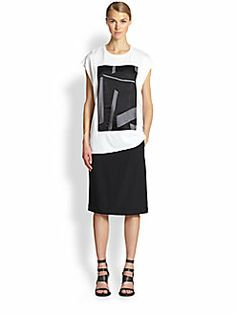 Helmut Lang - Printed-Panel Cotton Muscle Tee