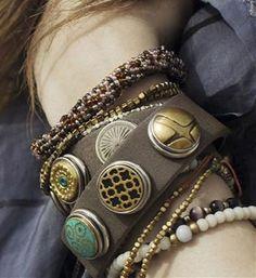 Noosa Amsterdam Pure Bracelet Double skinny Grey | Fair trade