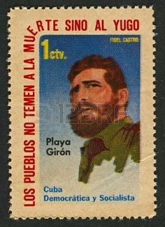 CUBA - CIRCA 1962: A stamp printed in Cuba shows image of the Fidel Alejandro Castro Ruz is a Cuban communist revolutionary and politician who was Prime Minister of Cuba from 1959 to 1976, and President from 1976 to 2008, circa 1962.
