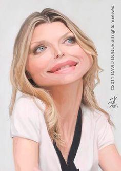 Caricatura de Michelle Pfeiffer.