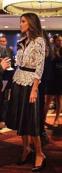September 22, 2014 ♔♛Queen Rania of Jordan♔♛...