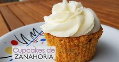 Deliciosos cupcakes de zanahoria con crema de queso