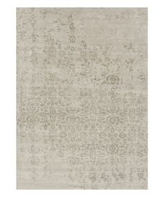 Ivory & Gray Abstract Wool Rug #zulilyfinds
