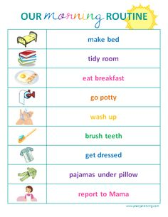 printable child routine pictures | printable} free kids' routine charts! | PlainJane | projects ...