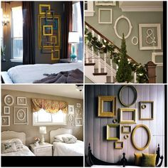 Get framed!  Cute ideas to decorate a wall